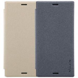 Nillkin Sparkle | Кожаный чехол-книжка для Sony Xperia XZ1 Compact