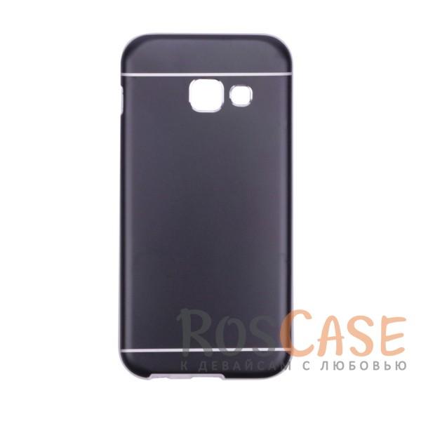 Тонкий двухслойный алюминиевый чехол с хромированными вставками и защитой кнопок для Apple iPhone 6/6s (4.7) (Черный)Описание:разработан для Samsung A320 Galaxy A3 (2017);материалы - металл, термополиуретан;двухслойная конструкция;матовый на ощупь;на нем не заметны отпечатки пальцев;тип - накладка;предусмотрены все необходимые вырезы.<br><br>Тип: Чехол<br>Бренд: Epik<br>Материал: Металл