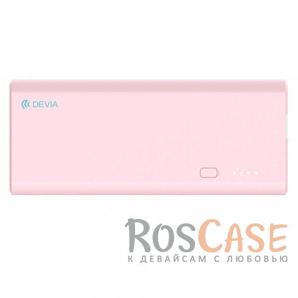 Фотография Розовый Devia | Портативное зарядное устройство Power Bank 10000mAh 2 USB 2.4 A со встроенным фонариком