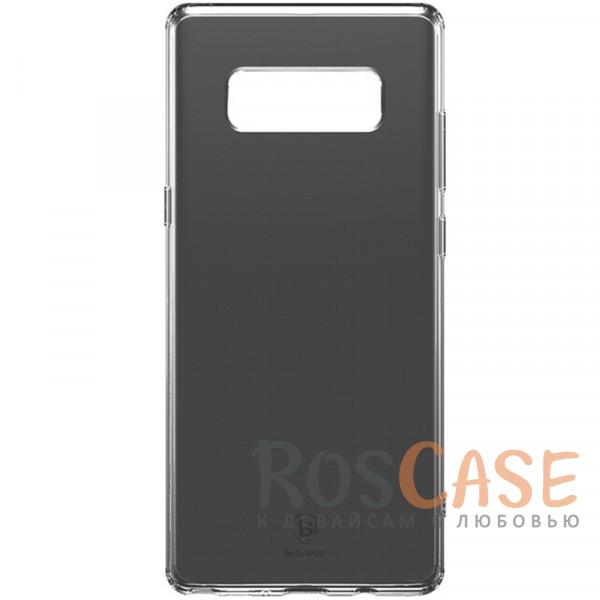 Ультратонкий защитный чехол Baseus из полупрозрачного силикона для Samsung Galaxy Note 8 (Черный / Transparent black)Описание:бренд&amp;nbsp;Baseus;совместимость - Samsung Galaxy Note 8;материал - термополиуретан;прозрачный корпус;плотно облегает девайс;защита от механических повреждений;предусмотрены все вырезы;на поверхности не заметны отпечатки;не скользит в руках;ультратонкий дизайн.<br><br>Тип: Чехол<br>Бренд: Baseus<br>Материал: TPU