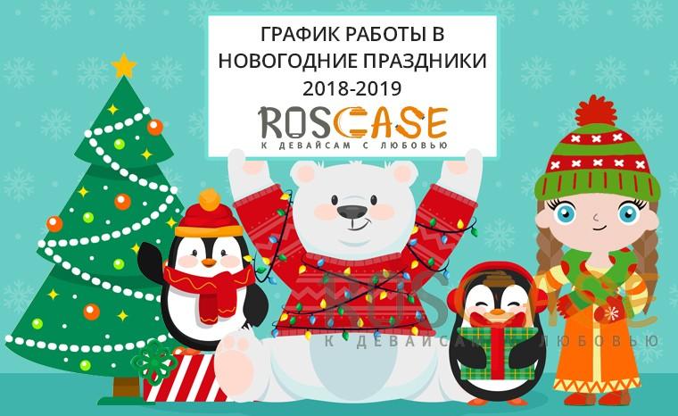 График работы RosCase Новогодние праздники 2018-2019