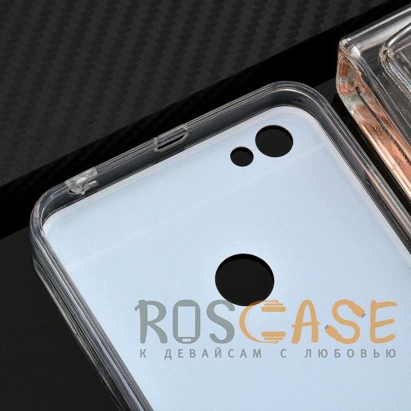 Фото Золотой Силиконовый чехол для Xiaomi Redmi Note 5A Prime / Redmi Y1 с зеркальной вставкой