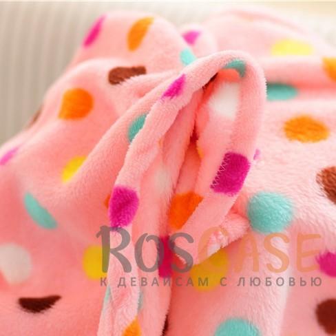 Изображение Розовый в горошек Плед в виде хвоста русалки