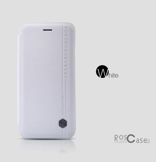 Кожаный чехол (книжка) Nillkin Rain Series для Apple iPhone 6/6s (4.7) (+ пленка) (Белый)Описание:производитель  -  компания&amp;nbsp;Nillkin;совместимость - Apple iPhone 6/6s (4.7);материалы  -  искусственная кожа, поликарбонат;форма  -  чехол-книжка.&amp;nbsp;Особенности:в наличии все функциональные вырезы;надежная система крепления;тонкий и легкий;пленка в комплекте;защита от ударов и царапин;необычный дизайн.<br><br>Тип: Чехол<br>Бренд: Nillkin<br>Материал: Искусственная кожа