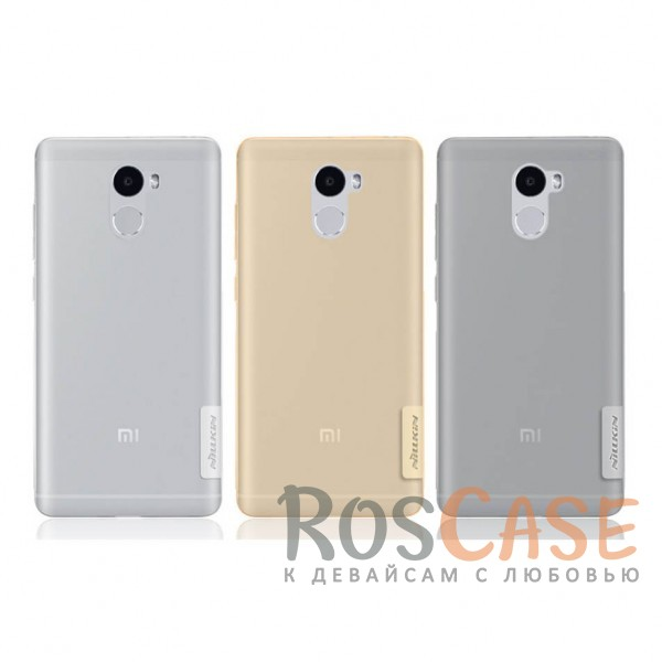 TPU чехол Nillkin Nature Series для Xiaomi Redmi 4<br><br>Тип: Чехол<br>Бренд: Nillkin<br>Материал: TPU