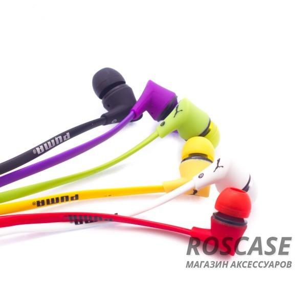 Фото Вакуумные наушники PUMA PM-A10S с плоским проводом и микрофоном