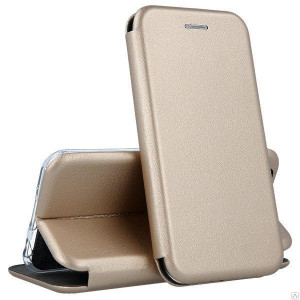 Open Color | Кожаный чехол-книжка для Samsung Galaxy A60 с функцией подставки и магнитом
