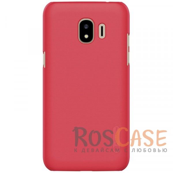 Nillkin Super Frosted Shield | Матовый чехол для Samsung Galaxy J2 Pro (2018) (+ пленка) (Красный)Описание:совместимость:&amp;nbsp;Samsung Galaxy J2 Pro (2018)материал: поликарбонат;тип: накладка;закрывает заднюю панель и боковые грани;защищает от ударов и царапин;рельефная фактура;не скользит в руках;ультратонкий дизайн;защитная плёнка на экран в комплекте.<br><br>Тип: Чехол<br>Бренд: Nillkin<br>Материал: Поликарбонат