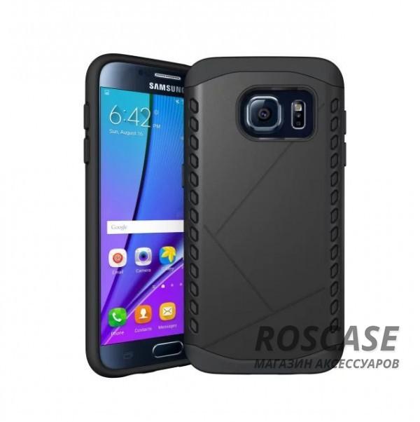 Противоударный защитный чехол Armor для Samsung Galaxy S7 Edge с усиленным прорезиненным бампером  (Черный)Описание:разработан специально для Samsung G935F Galaxy S7 Edge;материалы: термополиуретан, поликарбонат;формат: накладка.Особенности:защита от ударов;двойной корпус;не скользит в руках;усиленный бампер;присутствуют все необходимые вырезы.<br><br>Тип: Чехол<br>Бренд: Epik<br>Материал: TPU