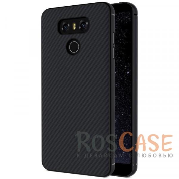 Чехол из карбона для LG G6 / G6 Plus H870 / H870DSОписание:аксессуар компании&amp;nbsp;Nillkin;разработано специально для LG G6 / G6 Plus H870 / H870DS;материал: поликарбонат, карбоновое покрытие;тип: накладка;все функциональные вырезы имеются;прочный и износостойкий;встроенная металлическая пластина;не ухудшает качество сигнала;на нем не заметны отпечатки пальцев;не деформируется.<br><br>Тип: Чехол<br>Бренд: Nillkin<br>Материал: Пластик