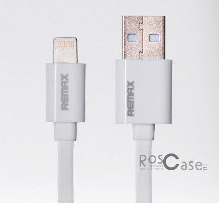 Дата кабель Remax lightning для Apple iPhone 5/5s/5c/SE/6/6 Plus/6s/6s Plus /7/7 Plus 1m (Белый)Описание:производитель&amp;nbsp; - &amp;nbsp;Remax;выполнен из ПВХ;тип&amp;nbsp; - &amp;nbsp;дата кабель;совместимость - Apple iPhone 5/5s/5c/SE/6/6 Plus/6s/6s Plus /7/7 Plus, Apple iPad.Особенности:длина&amp;nbsp;кабеля - 1 м;разъемы&amp;nbsp; - &amp;nbsp;lightning, USB;высокая скорость передачи данных;совмещает три в одном: синхронизация данных, передача данных, зарядка.<br><br>Тип: USB кабель/адаптер<br>Бренд: Remax