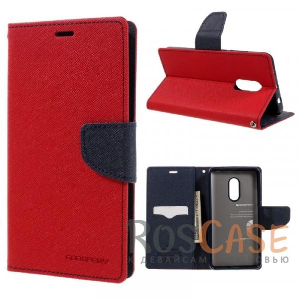 Чехол (книжка) Mercury Fancy Diary series для Xiaomi Redmi Note 4 (Красный / Синий)Описание:бренд&amp;nbsp;Mercury;создан для Xiaomi Redmi Note 4;материалы  -  искусственная кожа, термополиуретан;форма  -  чехол-книжка.&amp;nbsp;Особенности:фактурная поверхность;все функциональные вырезы в наличии;внутренние кармашки;магнитная застежка;защита от механических повреждений;трансформируется в подставку.<br><br>Тип: Чехол<br>Бренд: Mercury<br>Материал: Искусственная кожа