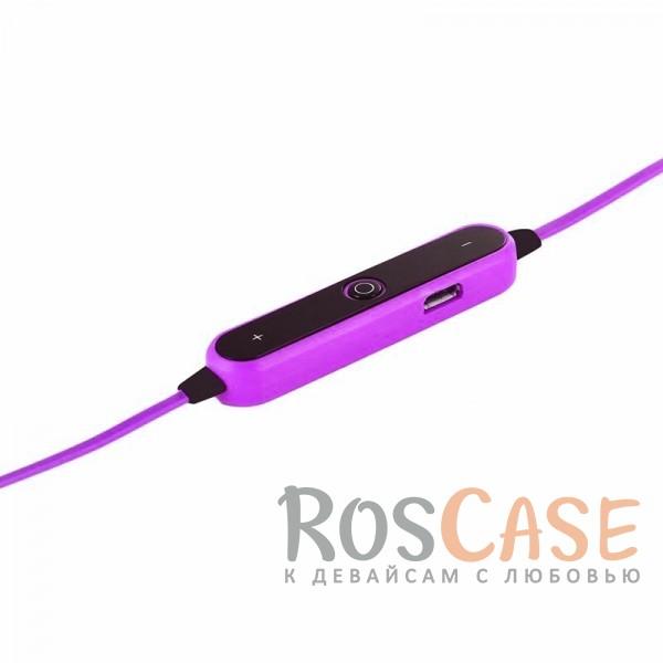 Изображение Розовый s6-1 | Спортивные беспроводные Bluetooth наушники с пультом управления и микрофоном