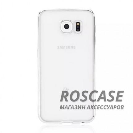 Прозрачный силиконовый чехол для Samsung G925F Galaxy S6 Edge с глянцевой окантовкой (Серебряный)Описание:подходит для Samsung G925F Galaxy S6 Edge;материал - силикон;тип - накладка.Особенности:глянцевая окантовка;прозрачный центр;гибкий;все вырезы в наличии;не скользит в руках;ультратонкий.<br><br>Тип: Чехол<br>Бренд: Epik<br>Материал: Силикон