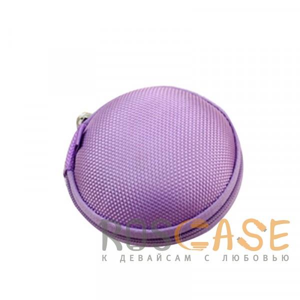 Фотография Фиолетовый Текстурный ударопрочный чехол-футляр для наушников