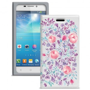 """Универсальный яркий чехол-книжка с цветочным рисунком Gresso """"Вива""""  для Samsung Galaxy S5 (G900F)"""