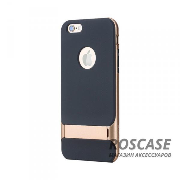 TPU+PC чехол Rock Royce Series с функцией подставки для Apple iPhone 6/6s (4.7) (Золотой / Gold)Описание:изготовитель: компания Rock;совместимость: смартфоны Apple iPhone 6/6s;произведен из термопластичного полиуретана и качественного поликарбоната;тип крепления: накладка;поверхность: частично матовая, частично глянцевая.Особенности:защищает от повреждений при падениях;имеет двойную конструкцию;имеет функцию подставки;позиционируется как аксессуар с интересным нетривиальным дизайном.<br><br>Тип: Чехол<br>Бренд: ROCK<br>Материал: TPU