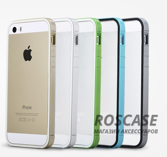 фото бампера ROCK Slim Guard Series Dual-color для Apple iPhone 5/5S/5SE
