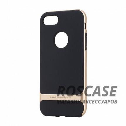 TPU+PC чехол Rock Royce Series для Apple iPhone 7 plus (5.5) (Черный / Champagne gold)Описание:производитель  - &amp;nbsp;Rock;совместимость - Apple iPhone 7 plus (5.5);материалы  -  термополиуретан, поликарбонат;тип  -  накладка.&amp;nbsp;Особенности:амортизирует удары;имеет все необходимые вырезы;оригинальный дизайн;не увеличивает габариты;защищает от царапин и потертостей;износостойкий.<br><br>Тип: Чехол<br>Бренд: ROCK<br>Материал: TPU