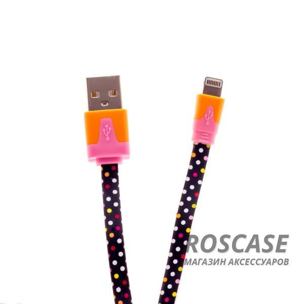 Кабель Melkco i-mee Fantastic lightning для Apple iPhone 5/5s/5c/SE/6/6 Plus/6s/6s Plus /7/7 Plus 1m (Polka Dot / Горошек)Описание:производитель:&amp;nbsp;Melkco;предназначение: синхронизация с ПК, зарядка;совместимость: Apple iPhone 5/5s/5c/SE/6/6 Plus/6s/6s Plus /7/7 Plus;длина кабеля: 1 метр.&amp;nbsp;Особенности:компактный;плоский;обеспечивает высокую скорость передачи данных;яркая стильная расцветка;не переламывается.<br><br>Тип: USB кабель/адаптер<br>Бренд: Melkco