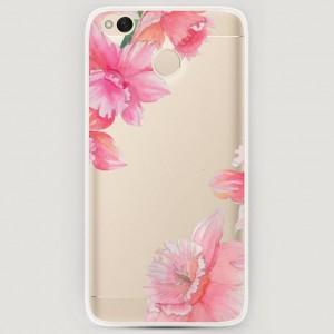 RosCase | Силиконовый чехол Розовые цветочные уголки на Xiaomi Redmi 4X