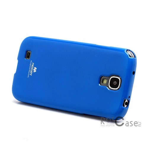 фото Синий TPU чехол Mercury Jelly Color series для Samsung i9500 Galaxy S4