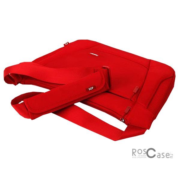 Сумка SGP Klasden Neumann shoulder bag (13 дюймов) (Красный / Red / SGP08424)Описание:бренд:&amp;nbsp;SGP;совместимость: устройства с диагональю 13 дюймов;материал: неопрен;форма: сумка.&amp;nbsp;Особенности:легкая;внутренняя отделка - искусственный мех;два отделения;молния;регулируемый ремень.<br><br>Тип: Чехол<br>Бренд: SGP<br>Материал: Натуральная кожа