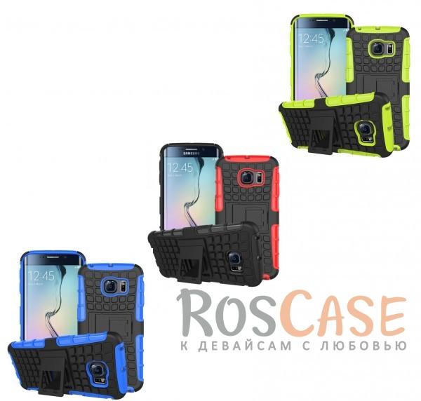 Противоударный двухслойный чехол Shield для Samsung G925F Galaxy S6 Edge с подставкойОписание:разработан специально для Samsung G925F Galaxy S6 Edge;материалы: поликарбонат, термополиуретан;тип: накладка.&amp;nbsp;Особенности:двухслойный;ударопрочный;оригинальный дизайн;стильный дизайн;в наличии все функциональные вырезы;функция подставки.<br><br>Тип: Чехол<br>Бренд: Epik<br>Материал: TPU