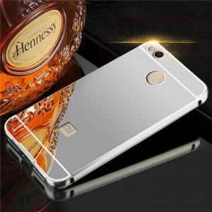 Металлический бампер для Xiaomi Redmi 4X с зеркальной вставкой