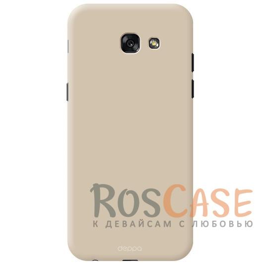 Чехол Air Case Deppa (soft touch) для Samsung A720 Galaxy A7 (2017) (Золотой)Описание:компания Deppa;создан для модели устройства Samsung A720 Galaxy A7 (2017);материал - поликарбонат;тип - накладка.<br><br>Тип: Чехол<br>Бренд: Noreve<br>Материал: Поликарбонат
