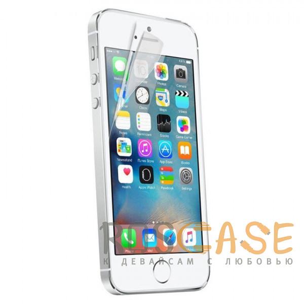 Фото Прозрачная Гидрогелевая защитная плёнка Rock для iPhone 5 / 5S / SE