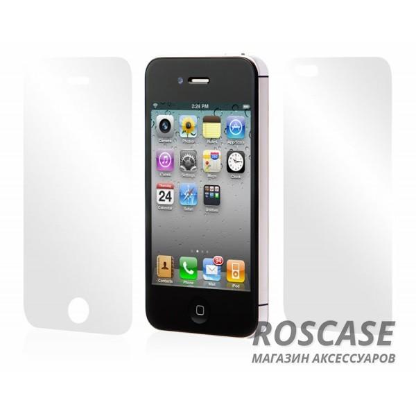 Защитная пленка Nillkin Crystal (на обе стороны) для Apple iPhone 4/4S(+ пленка на камеру) (Анти-отпечатки)Описание:производитель - компания&amp;nbsp;Nillkin;разработана для Apple iPhone 4/4S;материал: полимер;тип: защитная пленка.Особенности:защищает от царапин и потертостей;глянцевая поверхность;покрытие &amp;laquo;анти-отпечатки&amp;raquo;;две пленки в комплекте - на экран и на корпус;дополнительно - пленка на камеру;не желтеет.<br><br>Тип: Защитная пленка<br>Бренд: Nillkin