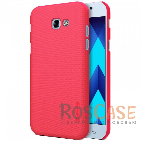 Матовый чехол для Samsung A520 Galaxy A5 (2017) (+ пленка) (Красный)Описание:бренд&amp;nbsp;Nillkin;совместим с Samsung A520 Galaxy A5 (2017);материалы: поликарбонат;тип: накладка.<br><br>Тип: Чехол<br>Бренд: Nillkin<br>Материал: Поликарбонат