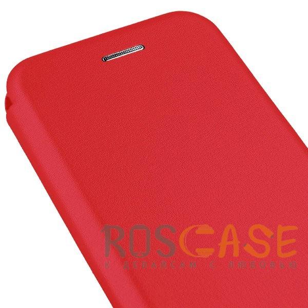 Фото Красный Open Color | Чехол-книжка для Xiaomi Mi 8 SE с функцией подставки и магнитом