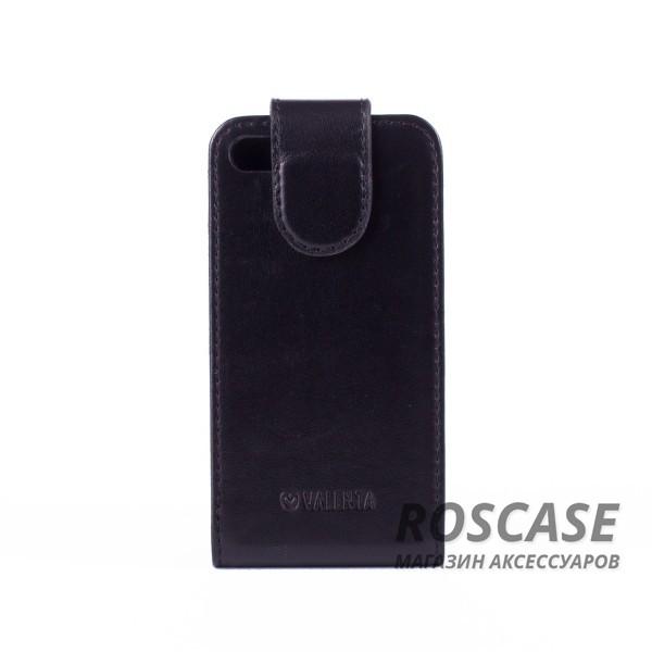 Фото Прочный кожаный флип-чехол Valenta с гладкой поверхностью для Apple iPhone 4/4S