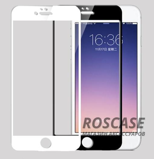 """Фото Прочное защитное стекло на весь экран с цветной рамкой и закругленными гибкими краями для Apple iPhone 6 plus (5.5"""")  / 6s plus (5.5"""")"""