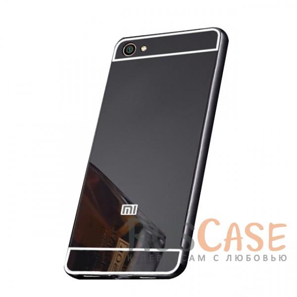 Защитный металлический бампер с зеркальной вставкой для Xiaomi Redmi Note 5A / Y1 Lite (Черный)Описание:разработан для Xiaomi Redmi Note 5A / Y1 Lite;материалы - металл, акрил;тип - бампер с задней панелью;зеркальная поверхность;металлический бампер;защита от царапин и ударов.<br><br>Тип: Чехол<br>Бренд: Epik<br>Материал: Металл