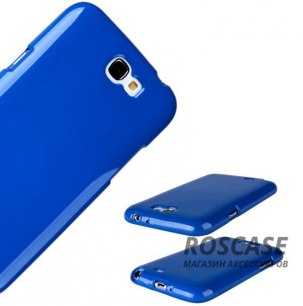 фото Синий TPU чехол Mercury Jelly Color series для Samsung N7100 Galaxy Note 2