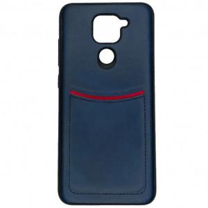 iLevel   Чехол с кожаным покрытием и карманом  для Xiaomi Redmi Note 9