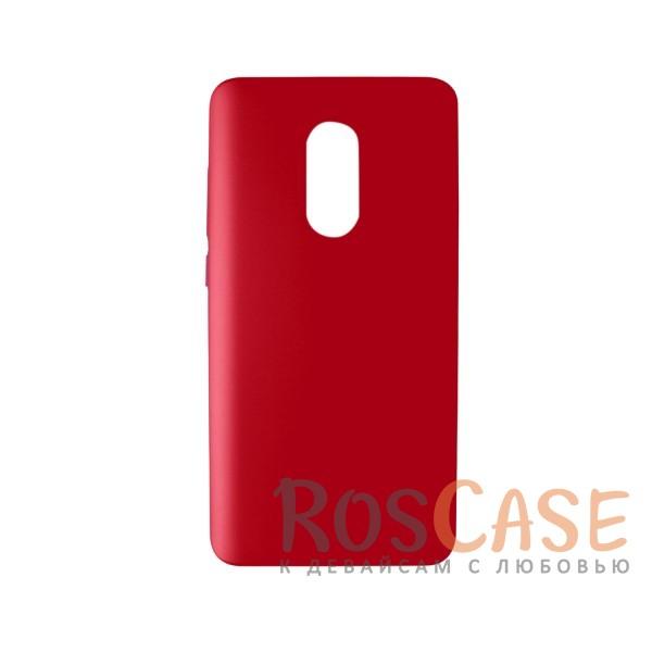 Пластиковая накладка soft-touch с защитой торцов Joyroom для Xiaomi Redmi Note 4 (Красный)<br><br>Тип: Чехол<br>Бренд: Epik<br>Материал: Пластик