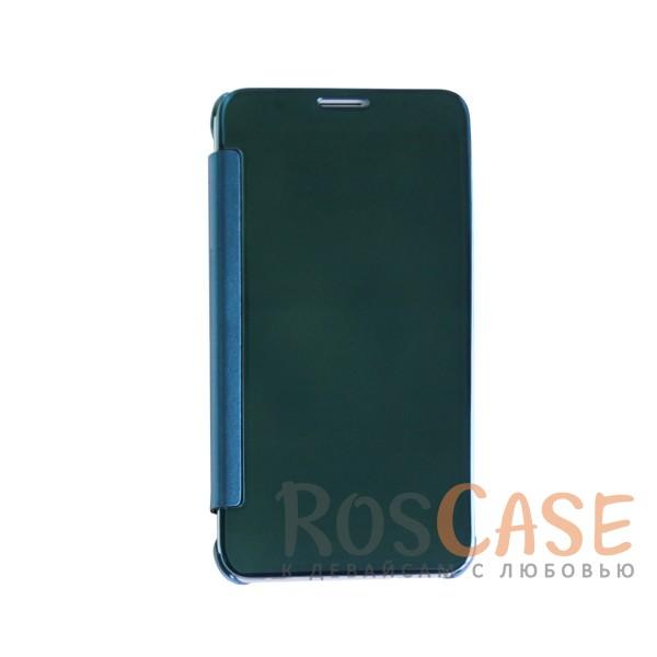Чехол-книжка с полупрозрачной акриловой крышкой с зеркальным покрытием для Samsung J710F Galaxy J7 (Синий)<br><br>Тип: Чехол<br>Бренд: Epik<br>Материал: Пластик