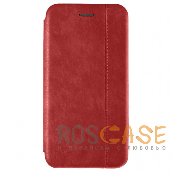 Фото Красный Open Color 2 | Чехол-книжка на магните для iPhone 12 / 12 Pro с подставкой и карманом
