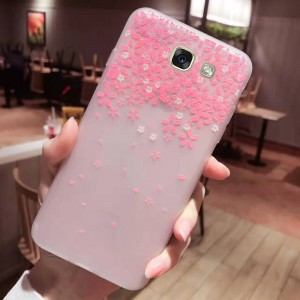 Силиконовый матовый чехол с принтом  для Samsung Galaxy A5 2017 (A520F)