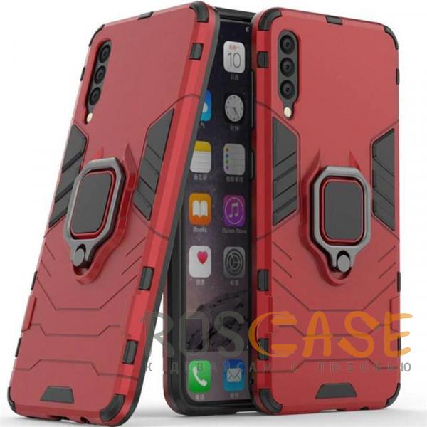 Фотография Красный / Dante Red Ударопрочный чехол Transformer Ring под магнитный держатель для Samsung Galaxy A50 / A50s / A30s