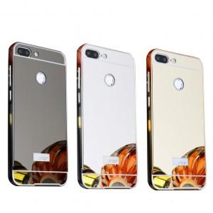 Металлический бампер для Huawei Honor 9 Lite с зеркальной вставкой