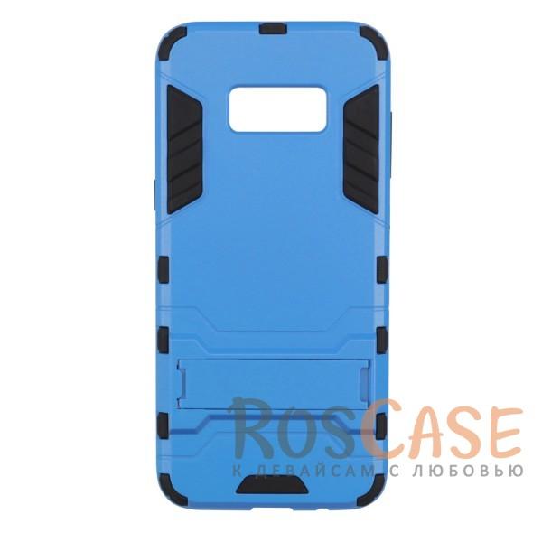 Ударопрочный чехол-подставка Transformer для Samsung G955 Galaxy S8 Plus с мощной защитой корпуса (Синий / Navy)Описание:чехол разработан для Samsung G955 Galaxy S8 Plus;материалы - термополиуретан, поликарбонат;тип - накладка;функция подставки;защита от ударов;прочная конструкция;не скользит в руках.<br><br>Тип: Чехол<br>Бренд: Epik<br>Материал: Пластик