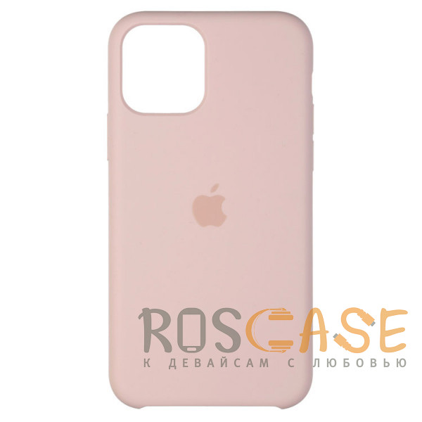 Фото Розовый песок Силиконовый чехол Silicone Case с микрофиброй для iPhone 11 Pro