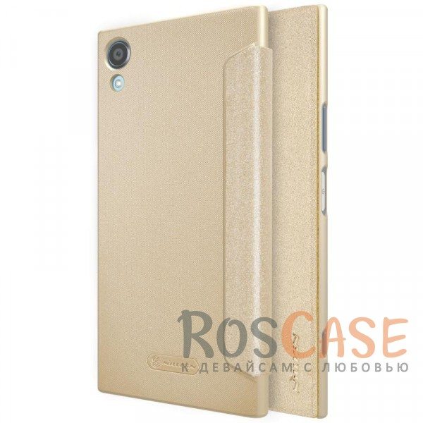 Nillkin Sparkle | Чехол-книжка с функцией Sleep Mode для Sony Xperia XA1 Plus / XA1 Plus Dual (Золотой)Описание:бренд&amp;nbsp;Nillkin;спроектирован для Sony Xperia XA1 Plus / XA1 Plus Dual;материалы: поликарбонат, искусственная кожа;блестящая поверхность;не скользит в руках;функция Sleep mode;предусмотрены все необходимые вырезы;защита со всех сторон;тип: чехол-книжка.<br><br>Тип: Чехол<br>Бренд: Nillkin<br>Материал: Искусственная кожа