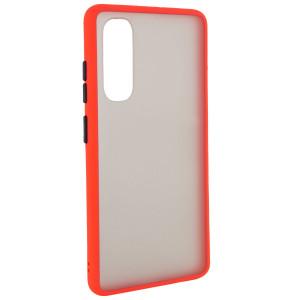 Противоударный матовый полупрозрачный чехол  для Xiaomi Mi Note 10 Lite