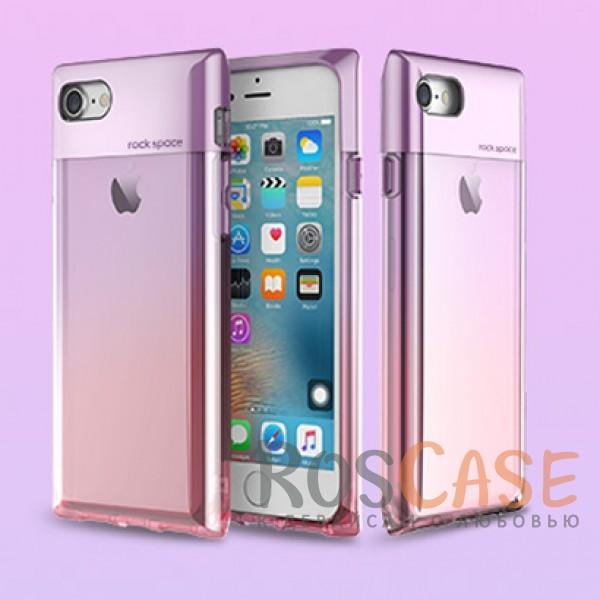 TPU+PC чехол Rock Crystal Series для Apple iPhone 7 (4.7) (Фиолетовый / Transparent Purple)Описание:бренд&amp;nbsp;Rock;совместимость:&amp;nbsp;Apple iPhone 7 (4.7);материал: термополиуретан и поликарбонат;вид: накладка.<br><br>Тип: Чехол<br>Бренд: ROCK<br>Материал: TPU